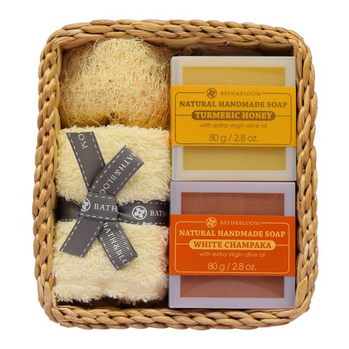 2 soap set WHITE CHAMPAKA - TURMERIC HONEY